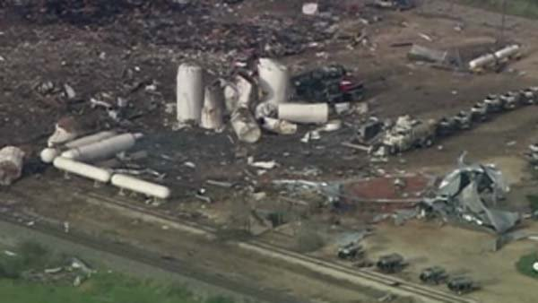 Sgt. Jason Reyes said 14 bodies have been recovered around the fertilizer plant after a large explosion Wednesday. (Source: CNN)