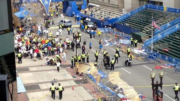 Pictured is Copley Square in Boston on April 15, after the explosion near the marathon's finish line. (Source: James Bardin)
