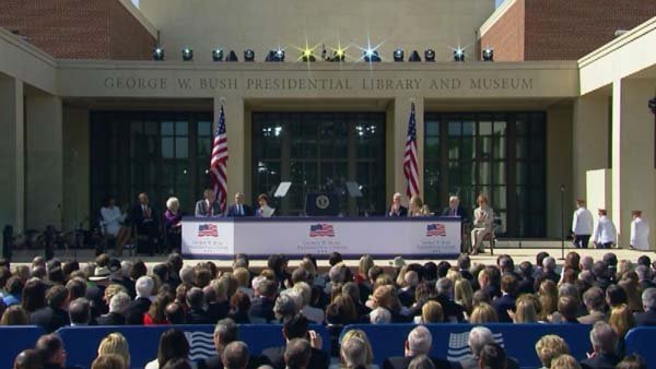 All five living presidents were on hand for the dedication of the George W. Bush Presidential Library and Museum in Dallas. (Source: CNN)