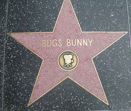 Bugs Bunny was the second fictional character to receive a star on the Hollywood Walk of Fame. (Source: Wikimedia Commons)
