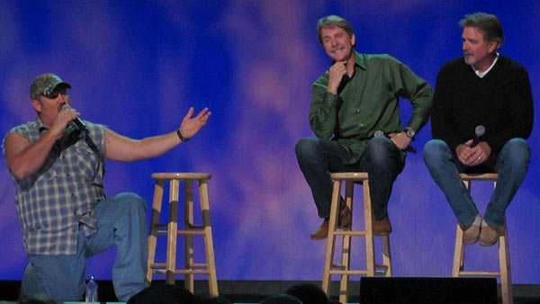 From left, Larry the Cable Guy, Jeff Foxworthy and Bill Engvall are the three comics that may be making the 'Blue Collar Country' amusement park a reality. (Source: Anirudh Koul/Flickr)