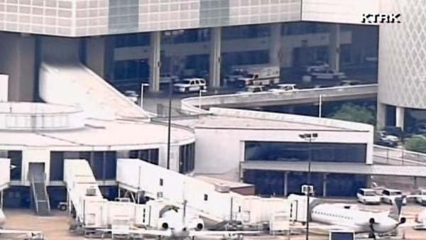 A man opened fire at a ticket counter at Bush Intercontinental Airport. (Source: KTRK/CNN)