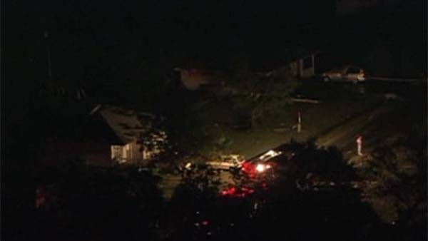 At least two tornadoes touched down, destroying an untold number of homes. (Source: WFAA/CNN)