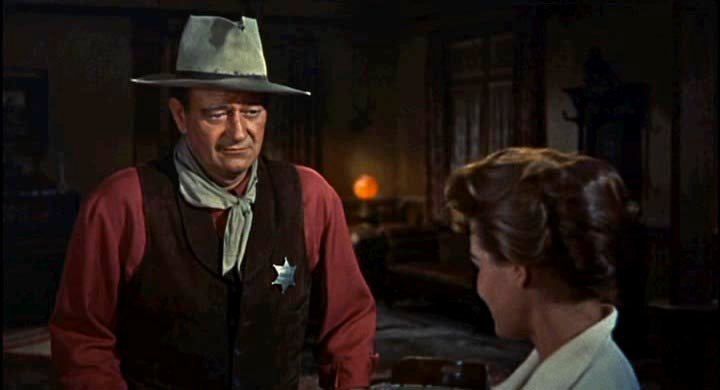 Screen shot taken from the theatrical trailer for Rio Bravo shows John Wayne, whose birthday is May 26. (Source: Wikimedia Commons)