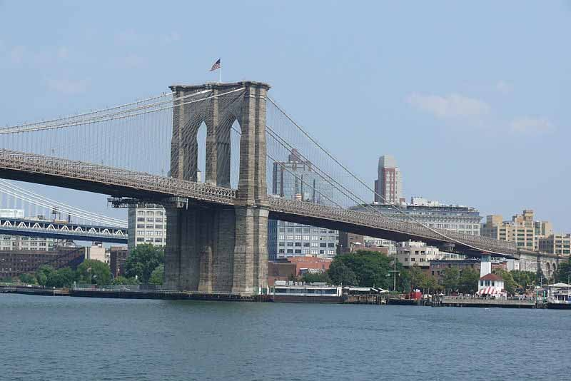 The Brooklyn Bridge over the East River in New York City. (Source: Ad Meskens/Wikimedia Commons)