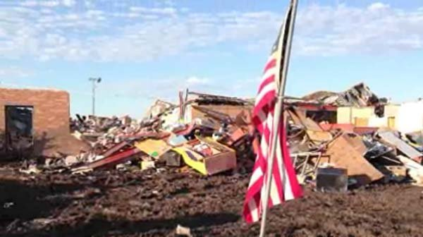 Plaza Towers Elementary school took a direct hit from the EF-5 tornado that hit Moore, OK, on May 20. (Source: CNN)