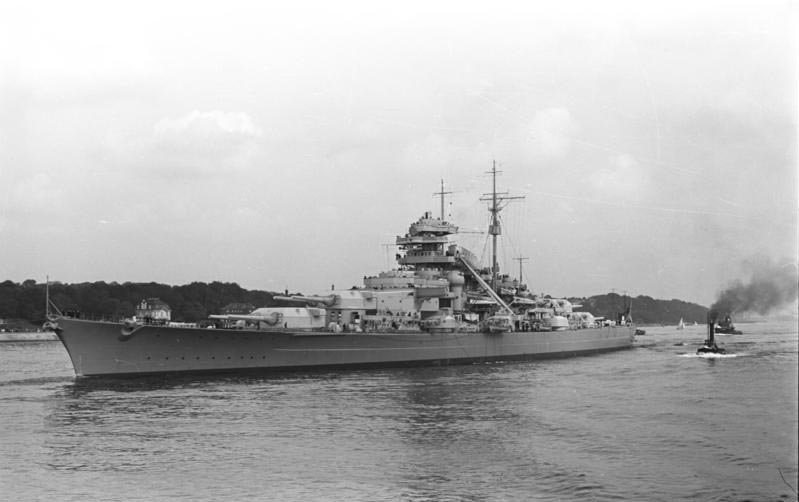 The German battleship Bismarck was sunk May 27, 1941. (Source: German Federal Archive/Wikimedia Commons)
