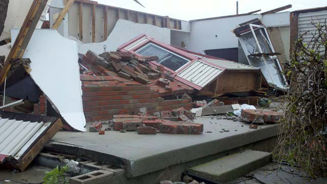 Homes and other buildings in Michigan were severely damaged by severe weather this week. (Source: WNEM)