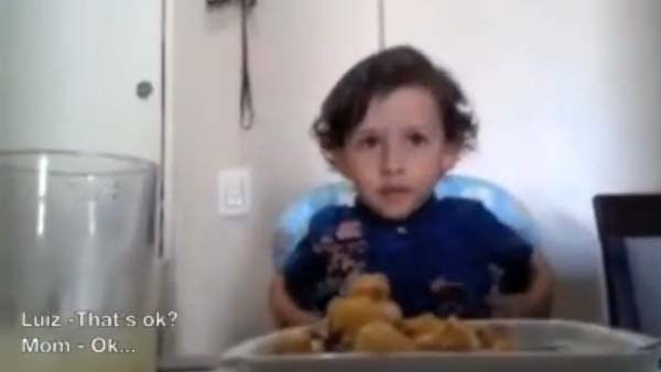 Kids are often picky about their food, but not in the thought-provoking way of one young man who decided to protect animals at the expense of his diet. (Source: YouTube)