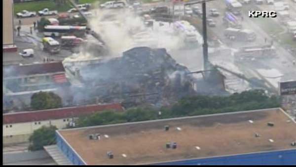 4 firefighters were killed and 5 were injured while battling a 5-alarm fire in Houston. (Source: KPRC/CNN)