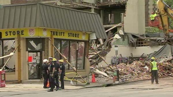 A construction worker associated with building collapse in Philadelphia has been arrested for testing positive for drugs. (Source: WPVI/CNN)