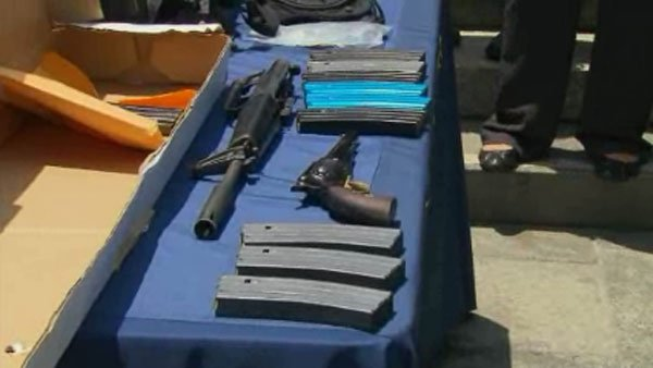 The weapons used in Friday's deadly shooting. (Source: CNN)