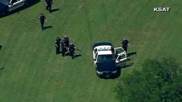 Police investigate reports of shooting at Joint Base San Antonio-Fort Sam Houston. (Source: KSAT/CNN)