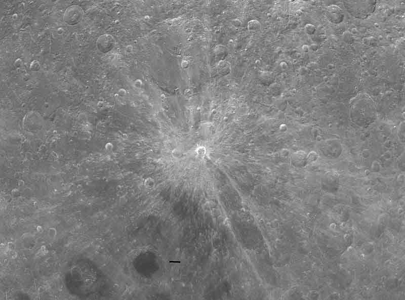 The Giordano Bruno crater on the surface of the moon. (Source: NASA/Wikimedia Commons)