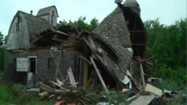 Storm damage in Rochester, MN. (Source: KIMT/CNN)