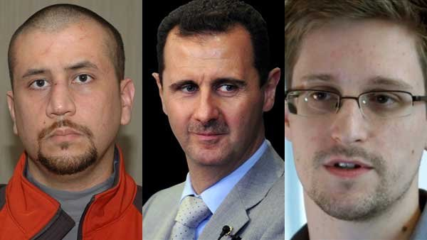 The trial of George Zimmerman, the use of chemical weapons by the Syrian government and the U.S. government's hunt for the NSA whistle-blower are a few of the stories that caught our eye this week.