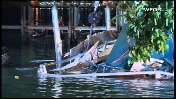 Officials said there were approximately 100 customers at the Shucker's Bar and Grill in Miami. (Source: WFOR/CNN)