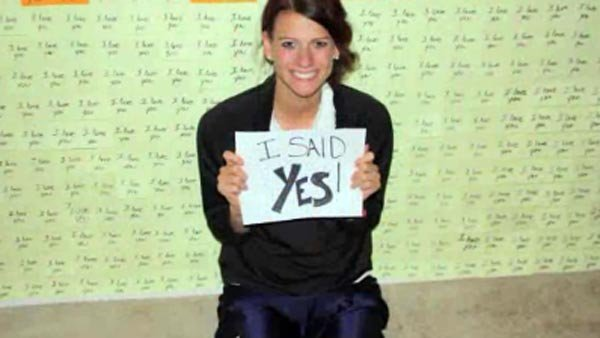 The proposal stuck. She said yes. (Source: Deanna Beutler/CNN)
