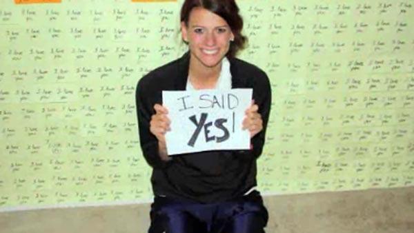 The proposal stuck. She said yes. (Source: Deanna Beutler/CNN)