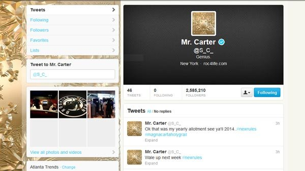 Jay-Z may be giving up on Twitter too soon with a huge promotional push for his upcoming album. (Source: Twitter)