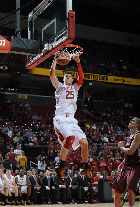 Alex Len may end up hearing his name called No. 1 overall Thursday at the NBA Draft. (Source: Maryland Athletics)