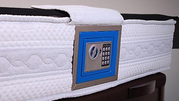 If you're worried about keeping your money safe, you can store it in a mattress. (Source: Flickr/taypopsin)