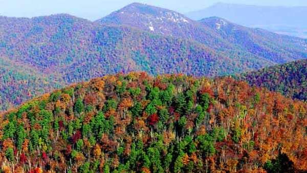 Air pollution causes smog in Shenandoah National Park. Pollution is among the problems challenging America's public lands.