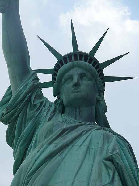 The Statue of Liberty was given to the United States by France on July 4, 1876, in honor of the 100th anniversary of the signing of the Declaration of Independence. (Source: Wikimedia Commons/Ad Meskens)
