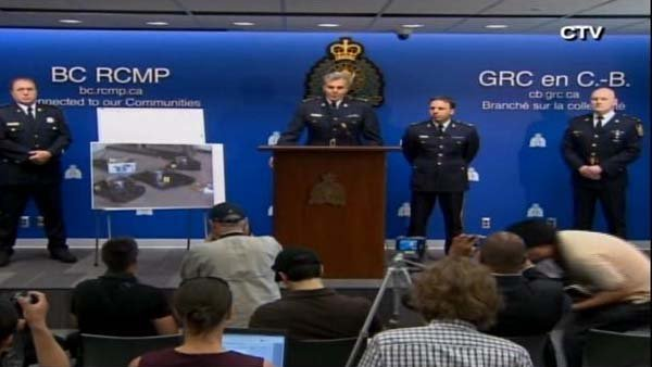 Royal Canadian Mounted Police announced the arrest of two people in a terror bomb plot. (Source: CTV/CNN)
