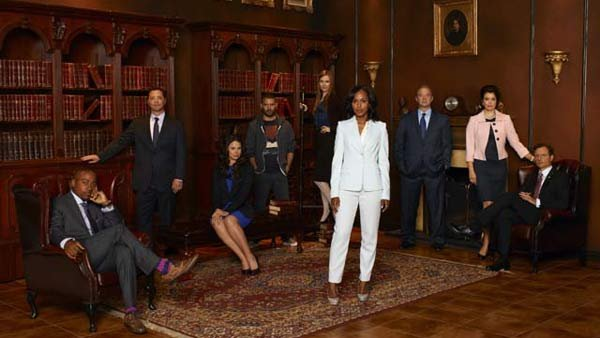 The cast of 'Scandal' is led by Kerry Washington. (Source: Craig Sjodin/ABC)