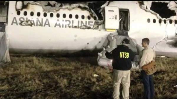 The NTSB posted photos of the beginning of their investigation on their official Twitter account early Sunday. (Source: NTSB/CNN)