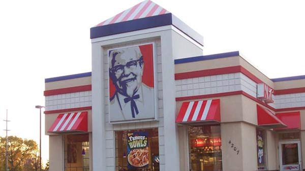 KFC is not happy with its beloved Colonel Sanders' image being linked to Hitler. (Source: LeSEA Broadcasting/MGN Online)