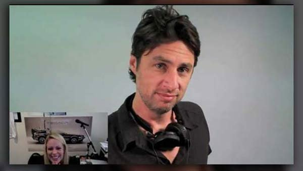 Zach Braff shows one lucky lady (bottom left) how much her boyfriend loves her. (Source: Matt Hulbert/YouTube)