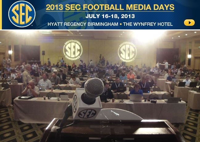 SEC Media Days, which is the beginning of football season