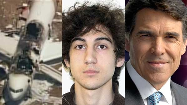 The crash of Asiana Flight 214, the first court appearance of the Boston Marathon bombing suspect and Gov. Rick Perry's decision to not seek re-election made headlines this week.