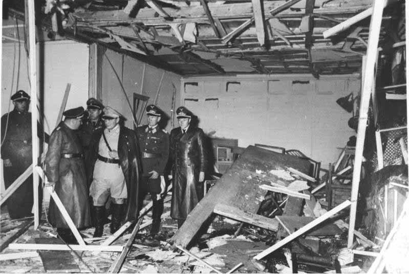 The aftermath of a plot to assassinate Adolf Hitler on July 20, 1944. (Source: German National Archives/Wikimedia Commons)