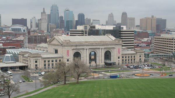 Cities such as Kansas City, MO, are trying to find ways to mitigate the urban heat island caused by all that concrete and asphalt. (Source: John LeCoque/Wikicommons)