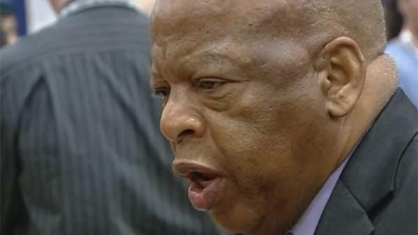 Civil rights icon and Georgia Congressman John Lewis wrote a comic book about his life. (Source: KFMB/CNN)