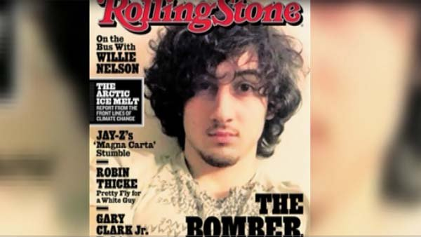 A Massachusetts State Police photographer leaked photos from the night Boston Marathon bombing suspect Dzhokhar Tsarnaev was captured after 'Rolling Stone' put Tsarnaev on the cover of the August issue. (Source: Rolling Stone/CNN)