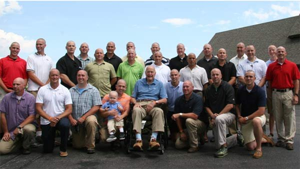The entire Secret Service staff of President George H.W. Bush shaved their heads in solidarity of little Patrick. (Source: Office of George Bush)