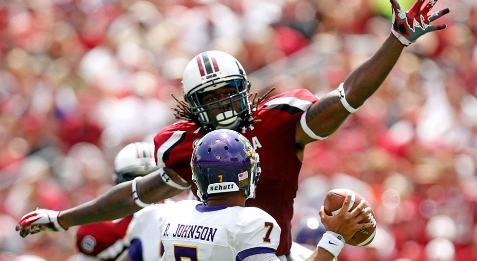 South Carolina defensive end Jadeveon Clowney is a Heisman candidate. (Source: USC Athletics)