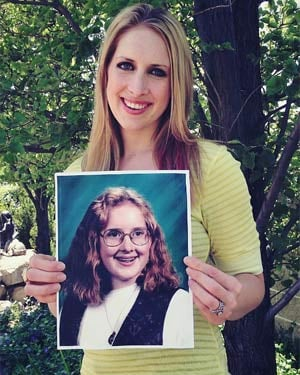 "Awkward Years Project contributor Autumn said of her awkward years, ""I bore it all and the outcome isn't so bad.""  (Source: The Awkward Years Project)"