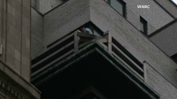 A horrifying accident in New York when a woman's balcony gave way sending her to her death. (Source:WABC/CNN)