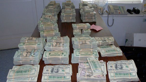 Money seized by the DEA from a 2009 drug raid. (Source: DEA.gov)