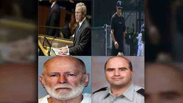 Former President George W. Bush's health, Alex Rodriguez's suspension, White Bulger's fate and Nidal Hasan's court martial were all in the news this week. (Source: Wikipedia Commons/CNN/U.S. Marshals Service/ U.S. Army/MGN Online)