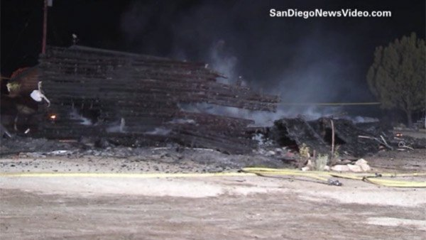 On Aug. 4, the home of James DiMaggio was found in flames. Inside, the bodies of Hannah Anderson's mother, Christina, and 8-year-old brother Ethan. (Source: SanDiegoNewsVideo.com/CNN)