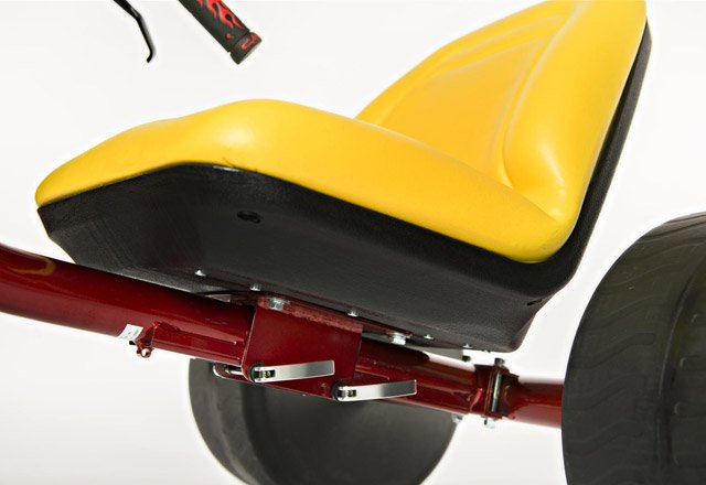 The plush seat offers an upgrade from the hard plastic of the original models. (Source: highrollerusa.com)