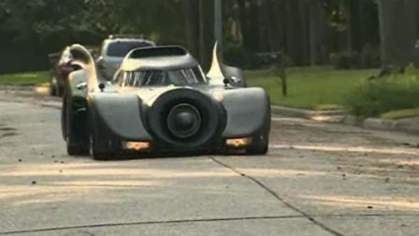"A Texas man builds ""batmobile-like"" vehicle. (Source: KHOU/CNN)"