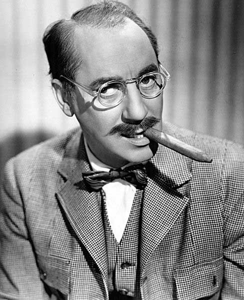 Groucho Marx, shown here, died Aug. 19, 1977. (Source: Wikimedia Commons)