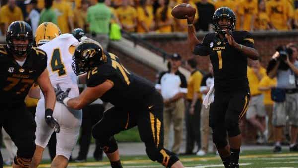 Mizzou star James Franklin's rash of injuries last year caused the Tigers to underperform. He's well now. (UM athletics)